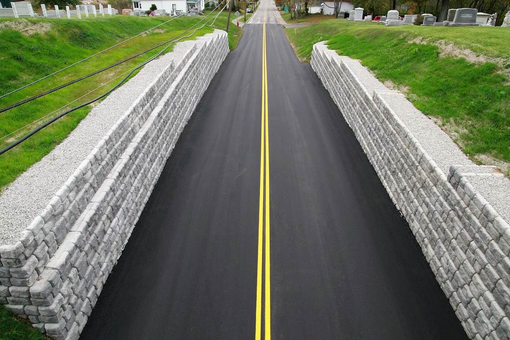 Retaining Walls Save Road And Cemetery From Erosion Redi